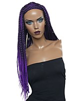 cheap -Wig Accessories / Twist Braids Straight Braid Synthetic Hair Synthetic / Woven / Cool Purple Wig Women's Long Capless / Natural Hairline