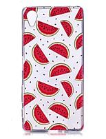Недорогие -Кейс для Назначение Sony Xperia XZ2 / Xperia XA1 Прозрачный / С узором Кейс на заднюю панель Фрукты Мягкий ТПУ для Xperia XZ2 / Xperia XA2 / Sony Xperia XA1