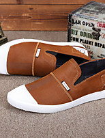 cheap -Men's Shoes Leather Summer Comfort Loafers & Slip-Ons Black Orange