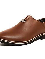 Недорогие -Муж. обувь Искусственное волокно Весна Удобная обувь Мокасины и Свитер для Офис и карьера Черный Коричневый