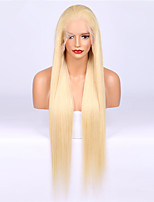 cheap -Remy Human Hair Wig Brazilian Hair Straight 130% Density Long Women's Human Hair Lace Wig