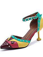 cheap -Women's Shoes PU(Polyurethane) Spring & Summer Novelty Heels Stiletto Heel Pointed Toe Rivet Red / Green / Blue / Wedding