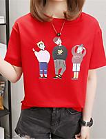 economico -t-shirt da donna - girocollo tinta unita