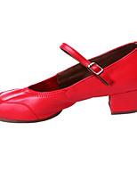 cheap -Women's Modern Shoes PU Heel Performance / Practice Chunky Heel Dance Shoes Black / Beige / Red