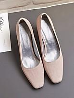 abordables -Femme Chaussures Tissu Printemps / Automne Confort / Escarpin Basique Chaussures à Talons Talon Bottier Gris / Rose