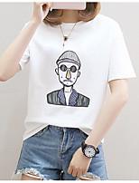 economico -t-shirt da donna - girocollo ritratto