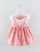 cheap -Toddler Girls' Color Block / Patchwork Sleeveless Dress