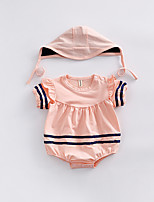 cheap -Baby Unisex Solid Colored Short sleeves Romper