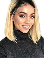 cheap -Remy Human Hair Lace Front Wig Wig Peruvian Hair Straight Short Bob 130% Density Women's Short Human Hair Lace Wig