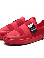 cheap -Men's Shoes Leather / Fabric Fall Comfort Sneakers White / Black / Red