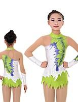 abordables -Femme Justaucorps de Gymnastique Manches Longues Élastique / Chinlon / Fil élastique Danse / Extensible / Pour Enfants