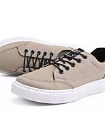 cheap -Men's Shoes Canvas Fall Comfort Sneakers White / Black / Khaki