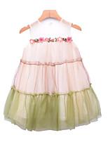 cheap -Kids Girls' Floral / Color Block Sleeveless Dress