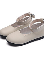 cheap -Girls' Shoes PU Spring & Summer Comfort Flats for Outdoor Black / Beige / Pink