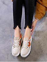 Недорогие -Жен. Обувь Кожа Весна Удобная обувь Кеды На плоской подошве Красный / Зеленый / Синий