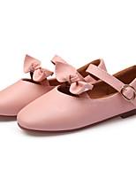 Недорогие -Девочки Обувь Полиуретан Весна лето Балетки На плокой подошве Бант для Белый / Черный / Розовый