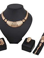 cheap -Women's Jewelry Set - Gold Plated Ethnic, Fashion Include Statement Necklace / Bridal Jewelry Sets Gold For Wedding / New Year