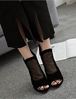 cheap -Women's Shoes Cashmere Spring & Summer Comfort Heels Stiletto Heel Open Toe Black / Party & Evening / Party & Evening