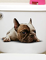 cheap -Fridge Stickers Toilet Stickers - Animal Wall Stickers Animals 3D Living Room Bedroom Bathroom Kitchen Dining Room Study Room / Office