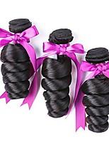 cheap -Brazilian Hair Wavy Natural Color Hair Weaves / Human Hair Extensions Gift Bag 8-28 inch Human Hair Weaves Capless New Arrival / For Black Women / curling Natural Black Human Hair Extensions Women's