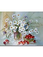 economico -Hang-Dipinto ad olio Dipinta a mano - Astratto / Floreale / Botanical Contemporaneo / Modern Tela