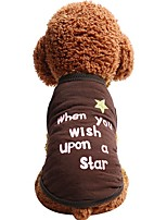 cheap -Dogs Cats Pets Vest Dog Clothes Patterned Stars Quotes & Sayings Brown Cotton / Polyester Costume For Pets Female Casual / Daily Fashion