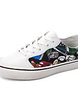cheap -Men's Shoes PU(Polyurethane) Spring / Fall Comfort Sneakers White / Black
