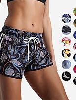 economico -Per donna Pantaloncini da corsa - Ruvida Nero, Rose Pink / Blue, Nero / Rosa Gli sport Stampa reattiva Pantaloncini Abbigliamento sportivo