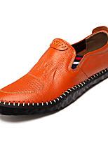 Недорогие -Муж. обувь Кожа Наппа Leather Осень Мокасины Удобная обувь Мокасины и Свитер Белый Черный Коричневый