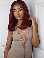 cheap -Remy Human Hair Wig Brazilian Hair Straight Bob Haircut 130% Density Short Women's Human Hair Lace Wig