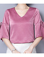 cheap -Women's Basic / Street chic Blouse - Solid Colored