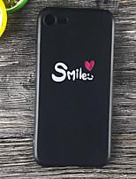 Недорогие -Кейс для Назначение Apple iPhone X / iPhone 8 Plus Защита от удара / Матовое / С узором Кейс на заднюю панель Слова / выражения Мягкий ТПУ для iPhone X / iPhone 8 Pluss / iPhone 8