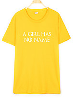 cheap -women's t-shirt - letter round neck