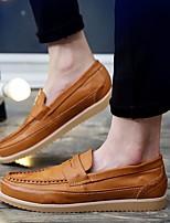 Недорогие -Муж. обувь Полиуретан Осень Удобная обувь Мокасины и Свитер Черный / Желтый / Коричневый