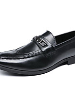 cheap -Men's Shoes Synthetic Microfiber PU Spring Comfort Loafers & Slip-Ons Black / Brown / Burgundy