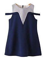 cheap -Kids / Toddler Girls' Solid Colored / Striped Sleeveless Dress