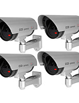 baratos -VESKYS Outdoor waterproof, simulation surveillance camera, with red flash, fake camera 1mp IP Camera Ao ar Livre with Prime 0GB
