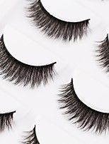 cheap -Eye 1pcs Volumized / Natural / Curly Daily Makeup Full Strip Lashes / Thick Make Up Professional / Portable Portable / Pro Daily 1cm-1.5cm