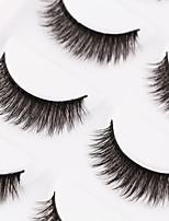 abordables -Œil 1pcs Dense / Naturel / Bouclé Maquillage Quotidien Cils Entiers / Epais Maquillage Professionnel / Portable Portable / Pro Quotidien