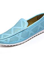 Недорогие -Муж. обувь Полиуретан Лето Мокасины Удобная обувь Мокасины и Свитер Белый Коричневый Тёмно-синий