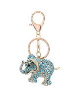cheap -Elephant Keychain Light Blue / Light Brown / Light Pink Animal Alloy Casual, Fashion For Gift / Daily