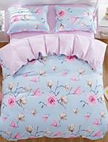 cheap -Duvet Cover Sets Floral Poly / Cotton 100% Cotton Reactive Print 3 Piece