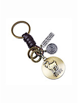 cheap -Keychain Jewelry Gold Circle Leather Alloy Vintage Casual Daily