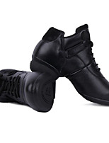 cheap -Women's Dance Sneakers Leather Sneaker Low Heel Dance Shoes White / Black / Orange / Performance / Practice
