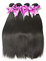 cheap -Malaysian Hair Straight Natural Color Hair Weaves / Bundle Hair / Human Hair Extensions 4 Bundles Human Hair Weaves Soft / Hot Sale / Comfortable Natural Black Human Hair Extensions Women's