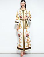 cheap -MARY YAN&YU Women's Vintage / Street chic Jalabiya Dress - Floral Print