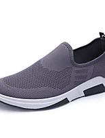 Недорогие -Муж. обувь Тюль Весна Осень Удобная обувь Мокасины и Свитер для Повседневные Черный Темно-синий Серый