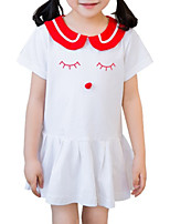 cheap -Kids / Toddler Girls' Geometric Short Sleeve Dress