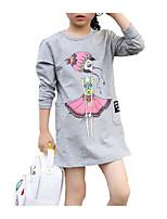 abordables -Bébé Fille Géométrique Manches Longues Robe