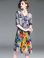 cheap -SHIHUATANG Women's Chinoiserie Shift Dress - Floral Print